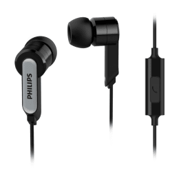 Philips In-Ear Wired Earphones with Mic (SHE1405BK, Black)_1