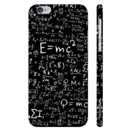 Enthopia Plastic Back Case Cover for Apple iPhone 6/6S (ED-5001, Black/White)_1