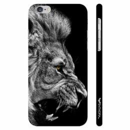 Enthopia Roar Of A Lion Plastic Back Case Cover for Apple iPhone 6 Plus (ED-5333 iPhn6+, Grey/Black)_1