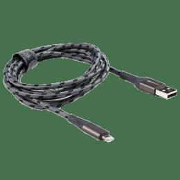 Boompods Retro Armour 150 cm USB 2.0 (Type-A) to Lightning Cable (BP-RCAR-GRA, Graphite)_1
