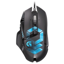 Logitech G502 12000 DPI Proteus Spectrum Wired Gaming Mouse (910-004633, Black)_1