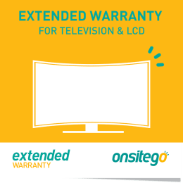 Onsitego 1 Year Extended Warranty for Television (Rs.250,000 - Rs.275,000)_1