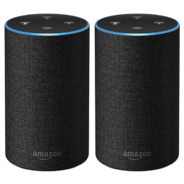 Amazon Echo 2nd Generation Smart Speaker Twin Pack (B07BS1SNQZ, Black)_1