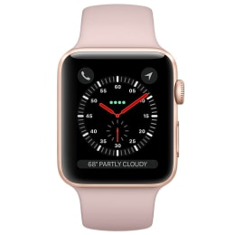 Apple Watch Series 3 GPS 38 mm Gold Aluminum Case with Pink Sand Sport Band_1