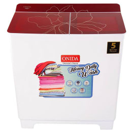 Onida 8.5 kg Semi Automatic Top Loading Wasing Machine (Hydro Care S85GC, Red)_1