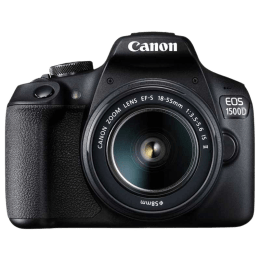 Canon 24.1 MP DSLR Camera Body with 18 - 55 mm & 55 - 250 mm Lens (EOS 1500D, Black)_1