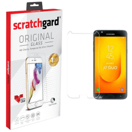 Scratchgard Tempered Glass Screen Protector for Samsung Galaxy J7 Duo (Clear)_1