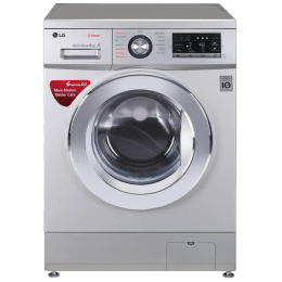 LG 8 kg Fully Automatic Front Loading Washing Machine (FH4G6TDYL42, Silver)_1
