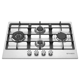 Faber 4 Burner Stainless Steel Built-in Gas Hob (Automatic Ignition, FPH 754 SS, Stainless Steel)_1