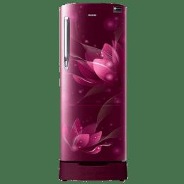 Samsung 192 L 5 Star Direct Cool Single Door Inverter Refrigerator (RR20N182XR8/HL, Saffron Red)_1