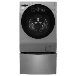 LG TWINWash 12 kg/8 kg Fully Automatic Front Load Washer Dryer Combo (2 Kg Mini Wash, FH6G1BCHK6N/F8K5XNK4, Stainless Steel)_1