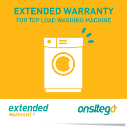 Onsitego 1 Year Extended Warranty for Top Load Washing Machine (Rs.100,000 - Rs.150,000)_1