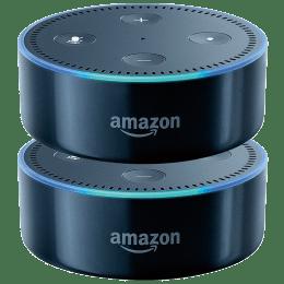 Amazon Echo Dot 2nd Generation Smart Speaker Twin Pack (B07C9L93TZ, Black)_1