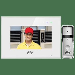 Godrej SeeThru Pro Video Door Phone Kit (White)_1