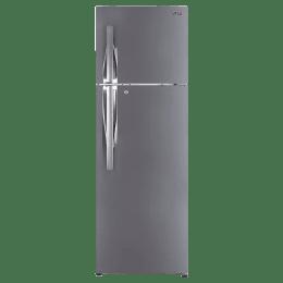 LG 360 Litres 2 Star Frost Free Inverter Double Door Refrigerator (Door Cooling+, GL-T402JPZU, Shiny Steel)_1