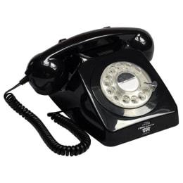 GPO 746 Rotary Corded Antique Phone (GPO-RDTP-BLK, Black)_1