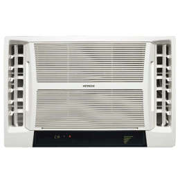 Hitachi Summer QC 2 Ton 2 Star Window AC (Copper Condenser, RAV222HUD, White)_1