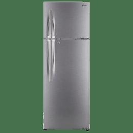LG 284 L 3 Star Frost Free Double Door Inverter Refrigerator (GL-C302RDSU, Shiny Steel)_1