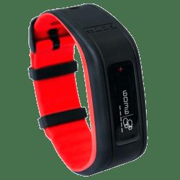 GOQii Fitness Tracker (Water Resistant, V2-HR-3-BR, Black/Red)_1