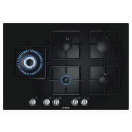 Bosch Serie 6 5 Burner Tempered Glass Built-in Gas Hob (Flame Failure Safety Device, PPS816B1TI, Elegant Black)_1
