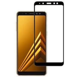 Stuffcool 2.5D Tempered Glass Screen Protector for Samsung Galaxy A8 Plus 2018 (MGGPSGA8P18, Black)_1