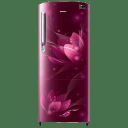Samsung 192 L 4 Star Direct Cool Single Door Inverter Refrigerator (RR20N172YR8/HL, Saffron Red)_1