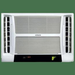 Hitachi Summer QC 1 Ton 5 Star Window AC (Copper Condenser, RAV513HUD, White)_1