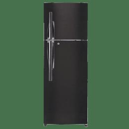 LG 335 L 4 Star Frost Free Double Door Inverter Refrigerator (GL-T372JBLN, Black)_1