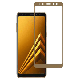 Stuffcool 2.5D Tempered Glass Screen Protector for Samsung Galaxy A8 Plus (Gold)_1