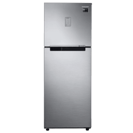 Samsung 253 L 4 Star Frost Free Double Door Inverter Refrigerator (RT28N3424SL, Steel)_1