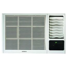 Hitachi 1.5 Ton 3 Star Window AC (Kaze Plus Eco RAW318KXDAI, Copper Condenser, White)_1