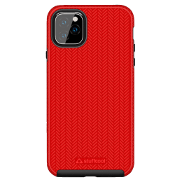 Stuffcool Pine Polycarbonate Hard Back Case Cover for Apple iPhone 11 (PINEIP1158-RED, Black)_1