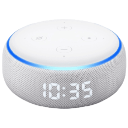 Amazon Echo Dot 3rd Generation Smart Speaker with Clock (B07NQLKYS3, Sandstone White)_1