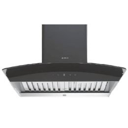 Elica 1200 m3/hr 60cm Curved Wall Mount Chimney (Touch Control, WDAT HAC 60 MS Nero, Black)_1