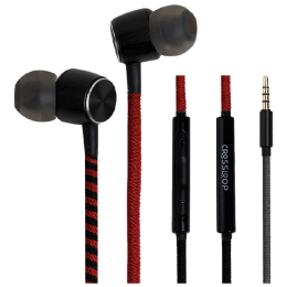 Crossloop Pro In-Ear Wired Earphones with Mic (CSLE029-E, Red/Black)_1