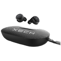 Xech In-Ear Truly Wireless Earbuds (SpeakerPods XL, Black)_1