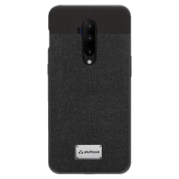 Stuffcool Bon Leather Back Case Cover for OnePlus 7T Pro (BONOP7TP-BLK, Black)_1