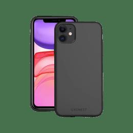 Cygnett Ultra Slim Silicone Back Case Cover for Apple iPhone 11 (CY2916CPSKI, Black)_1