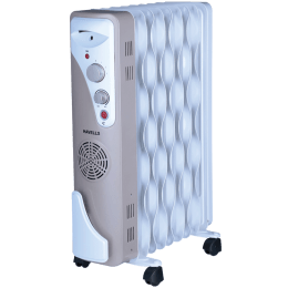 Havells OFR 9 Wave Fins 2500 Watts PTC Fan Oil Filled Room Heater (Thermostatic Heat Control, GHROFAEC240, Beige)_1
