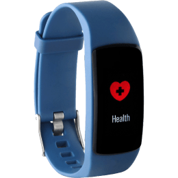 Helix Timex HRM Fitness Tracker (24.3mm) (Heart Rate Sensor, TW0HXB200T, Black/Blue, Resin Band)_1