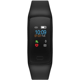 Helix Timex Gusto HRM Fitness Tracker (24.3mm) (Heart Rate Monitor, TW0HXB202T, Black, Resin Band)_1