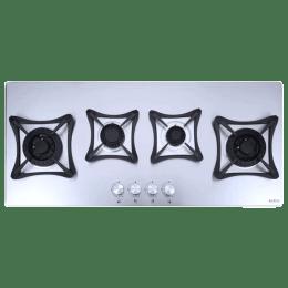 Elica Swirl 4 Burners Built-in Hob Cooktop (Inox MFC 4B 100 DX Swirl FFD, Stainless Steel)_1
