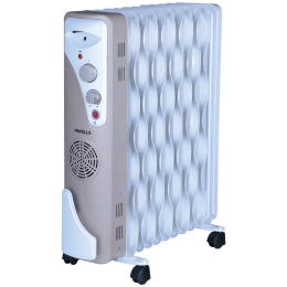 Havells OFR 11 Wave Fins 2900 Watts PTC Fan Oil Filled Room Heater (3 Step Speed Control, GHROFADC290, White)_1