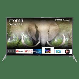 Croma 165.1 cm (65 inch) 4K Ultra HD LED Smart TV (Dual Box Speakers, CREL7348, Black)_1
