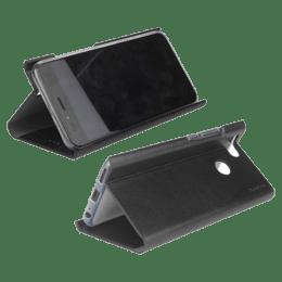Stuffcool 19.81 cm (7.8 inch) Flipit Wallet Type Flip Leather Case Cover for Vivo Y17 (FLPTVVY17-BLK, Black)_1