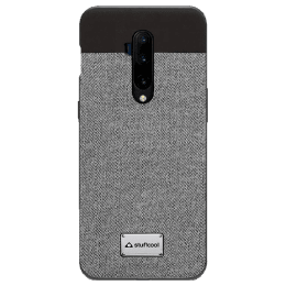 Stuffcool Bon Leather Back Case Cover for OnePlus 7T Pro (BONOP7TP-GRY, Grey)_1