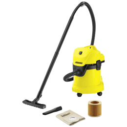 Karcher WD 3 1000 Watts Wet & Dry Vacuum Cleaner (17 Litres Tank, KAP, Yellow)_1