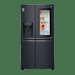 LG 668 L Multi Air Flow Side By Side Door Inverter Refrigerator (GC-X247CQAV, Matte Black)_1