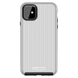 Stuffcool Pine Polycarbonate Hard Back Case Cover for Apple iPhone 11 Pro (PINEIP1161-SIL, Silver)_1