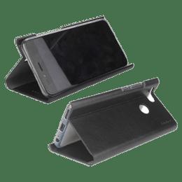 Stuffcool 19.81 cm (7.8 inch) Flipit Wallet Type Flip Leather Case Cover for Samsung Galaxy A10s ( FLPTSGA10S-BLK, Black)_1